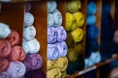 Material del punto del algodón de las lanas que hace punto imagen de archivo