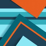 Material design abstract background, flat shapes Royalty Free Stock Images