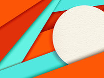 Material design background with colorful shapes Stock Images