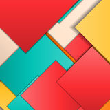 Material design background. Stack of random rectangles hovering in space on a flat surface. Abstract background in the paradigm of material design. Perfect Royalty Free Stock Photography
