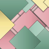 Material design background. Stack of random rectangles hovering in space on a flat surface. Abstract background in the paradigm of material design. Perfect Stock Illustration