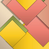 Material design background. Stack of random rectangles hovering in space on a flat surface. Abstract background in the paradigm of material design. Perfect Royalty Free Stock Photos