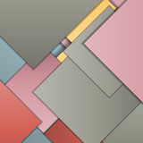 Material design background. Stack of random rectangles hovering in space on a flat surface. Abstract background in the paradigm of material design. Perfect Royalty Free Stock Image