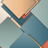 Material design background. Stack of random rectangles hovering in space on a flat surface. Abstract background in the paradigm of material design. Perfect Stock Photo
