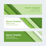 Material design banners. Set of modern colorful horizontal vector banners, page headers Stock Photo