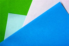 Material design on colorful papers Stock Photo