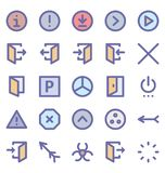Material Design Isolated Vector Icon Pack that can easily modified or edit in any color any shape vector illustration