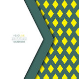 Material-design-olive-yellow. Material design background. Flat design layout. Abstract shape material design. Modern design. Vector flat background Royalty Free Illustration