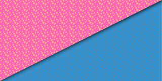Material design pattern. Pink and blue vector background Stock Photo