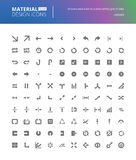 Material design solid icons set Stock Photos