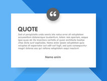 Material design style background and quote rectangle with sample text information  illustration template Stock Photography