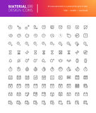 Material design time and date icons set Stock Images