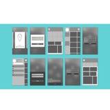 Material design UI kit Stock Image