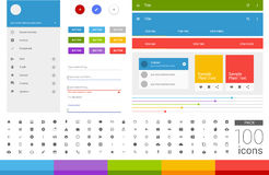 Material design ui set. Modern ui elements. Set of simple icons Stock Photography