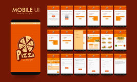 Material Design UI, UX and GUI for Food Mobile Apps. Royalty Free Stock Photos