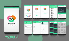 Material Design UI, UX and GUI for Mobile Apps. Stock Photography