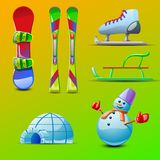 Material diferente para o entretenimento do inverno ilustração royalty free