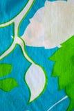 Material do algodão com testes padrões da folha. Fotografia de Stock Royalty Free