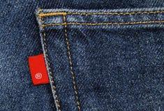 Material do algodão da sarja de Nimes das calças de brim imagens de stock