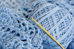 Material do Crochet - macro Foto de Stock Royalty Free