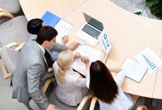 Material do negócio na reunião Fotografia de Stock