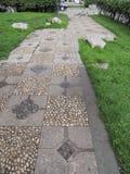 Material do trajeto do passeio das pedras e das lajes Foto de Stock Royalty Free