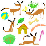 Material dos cães ilustração do vetor