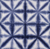 Material dyed batik. Shibori Royalty Free Stock Photo