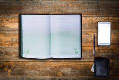Material e dispositivos do escritório no negócio fotos de stock