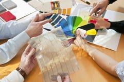 Material & färg för rådgivningläge Arkivfoton