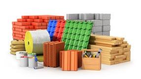 Material för att taklägga, konstruktionsmaterial, stock illustrationer