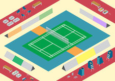 Material för badmintondomstol Arkivbild