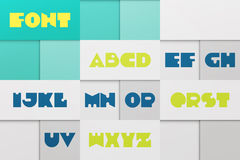 Material font Royalty Free Stock Photo