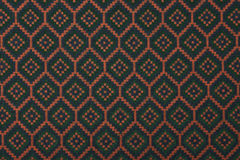 Material in geometric patterns, a background. Stock Photo