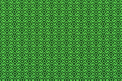 Material in geometric patterns, background. Green material in geometric patterns, a textile background Stock Photos