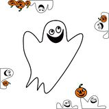 Material-gosth do vetor de Halloween Fotos de Stock Royalty Free