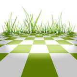 Material of grass. It is CG background material stock illustration