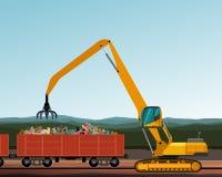 Material handler machine Stock Image