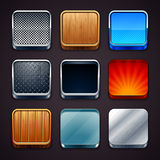 Material icons Stock Image