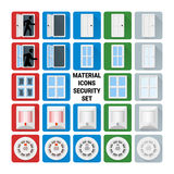 Material icons security set Royalty Free Stock Image