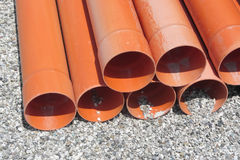 Material inside a construction site Royalty Free Stock Images