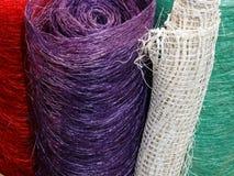 Material multi-colorido à moda da fibra imagens de stock royalty free