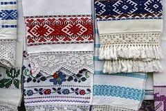 Material och broderat rumänskt Royaltyfri Fotografi