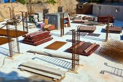 Material på en konstruktionsplats för Arkivfoton