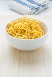 Material para la comida, blanco suburbano de Fried Noodles Raw de la fibra Foto de archivo