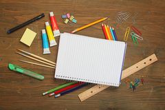 Material para la escuela Fotos de archivo