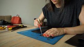 Material rebanador femenino para el bolso de las mujeres almacen de video