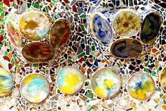 Material reciclado para casas de Gaudi fotos de stock