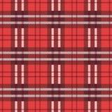 Material rojo de la franela de la materia textil del tartán stock de ilustración