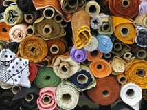 Material rolls Royalty Free Stock Images